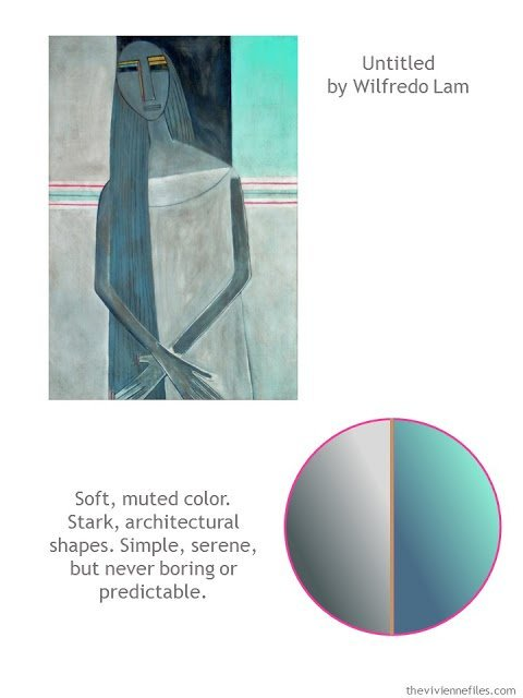 Untitled by Wilfred Lam with color scheme and style ideas, featured on The Vivienne Files