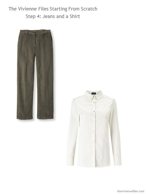 capsule wardrobe essentials - casual pants and a simple shirt