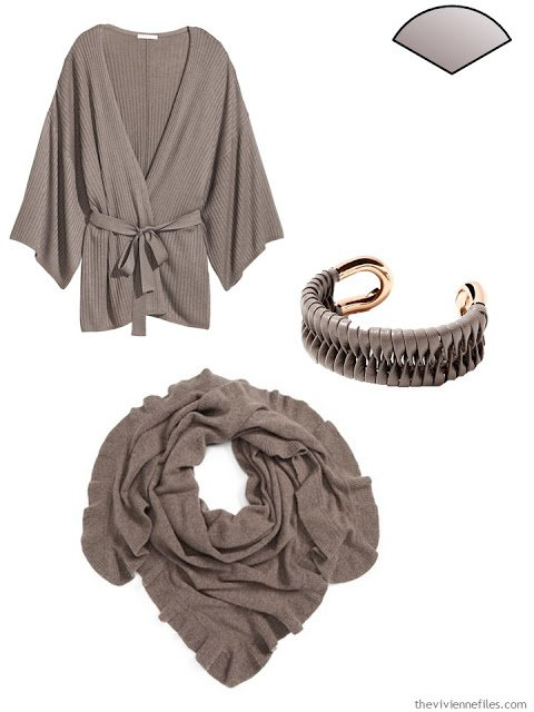 Capsule Wardrobe pieces in taupe