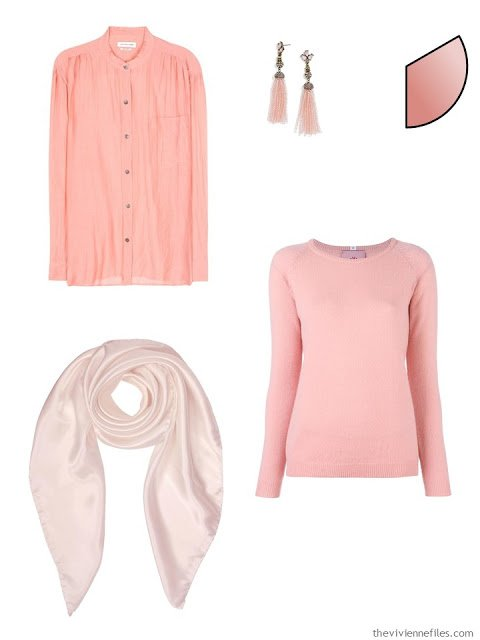 Capsule Wardrobe pieces in rose