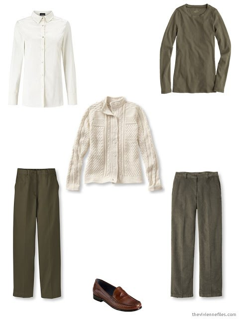 first six pieces of a capsule wardrobe