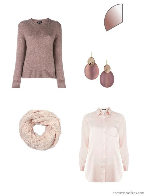 Pink clothing items for a capsule wardrobe