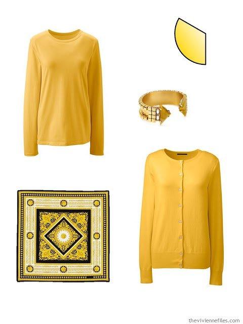 Capsule Wardrobe pieces in yellow