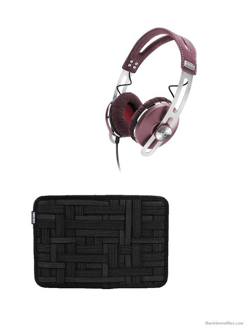travel extras - Sennheiser headphones and a Cocoon electronics organizer