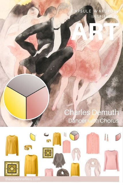 The French 5-Piece Wardrobe Inspired by  In Vaudeville: Dancer with Chorus by Charles Demuth