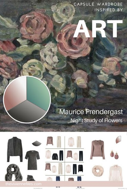 Capsule Wardrobe inspired by Art: Night Study of Flowers by Maurice Prendergast