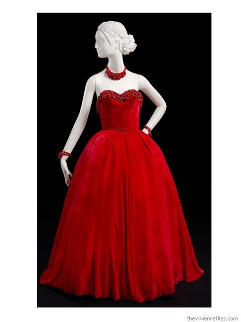 Mainboucher jeweled, strapless evening dress
