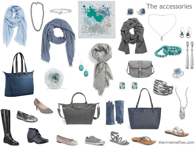 November's Capsule Wardrobe outfits in 6 color palettes - Accessories