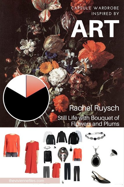 The French 5-Piece Wardrobe Starts with Art: Still Life with Bouquet of Flowers and Plums by Rachel Ruysch