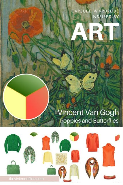 The French 5-Piece Wardrobe Start with Art: Poppies and Butterflies by Vincent Van Gogh