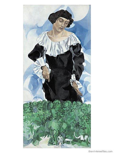 Femme au Col Blanc by Marc Chagall