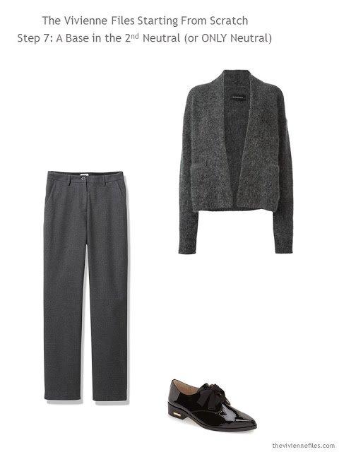 A core wardrobe in grey for a capsule wardrobe