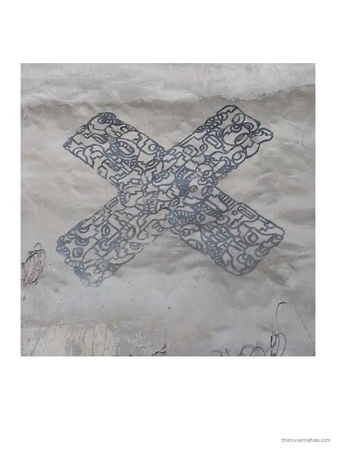 Paris street art marker drawn detailed X