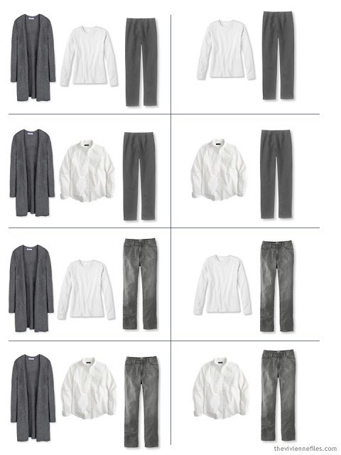 How to build a capsule wardrobe in grey and white