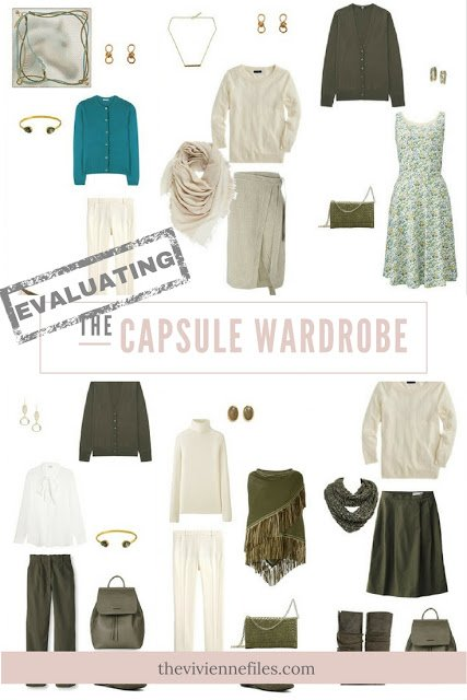 How to Evaluate a capsule wardrobe in an olive and beige color palette