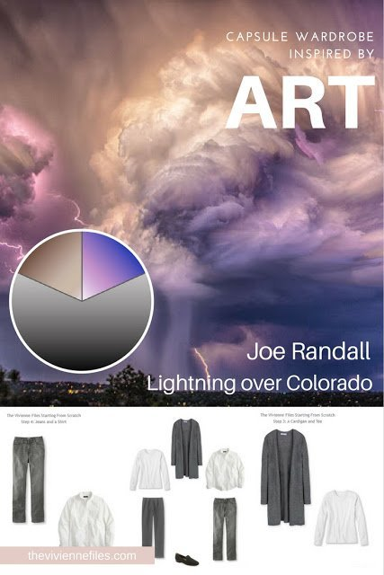How to Build a Capsule Wardrobe From Scratch starting with the Core Pieces, based on Lightning over Colorado by Joe Randall