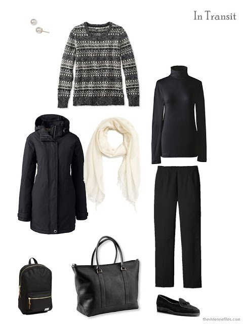 A travel capsule wardrobe with what to pack for Dublin, Ireland in winter