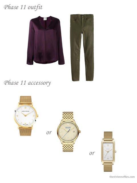 Choosing a simple, classic gold wrist watch
