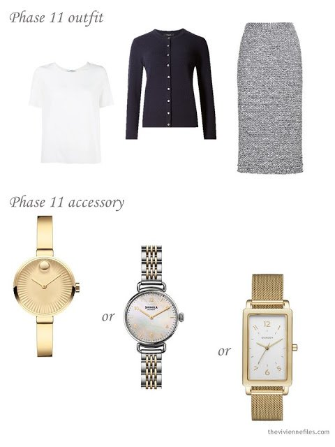 How to add a feminine watch to a business capsule wardrobe