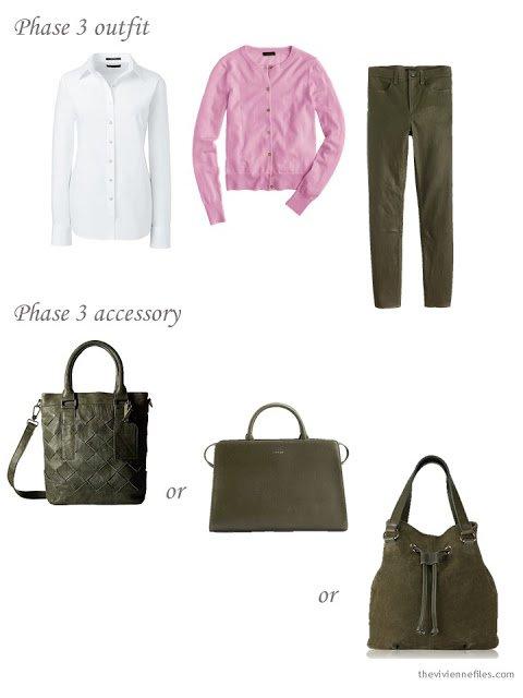 Choosing an olive green tote bag