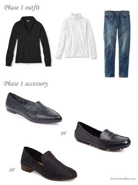 Adding black loafers to a capsule wardrobe