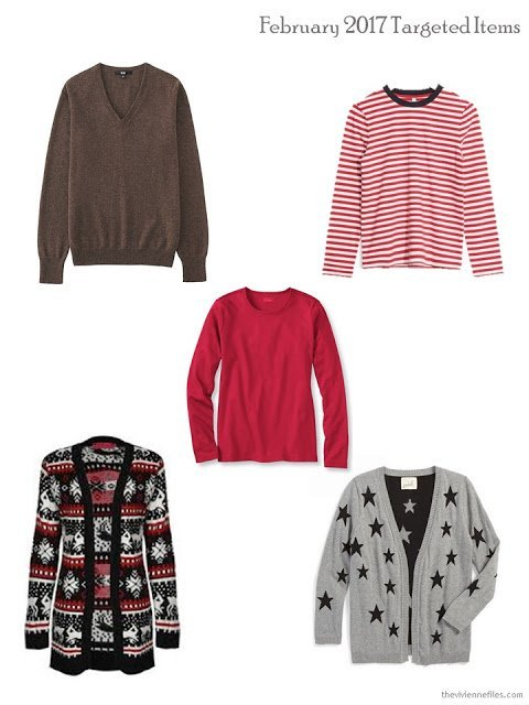 Target garments from a capsule wardrobe in a year without shopping