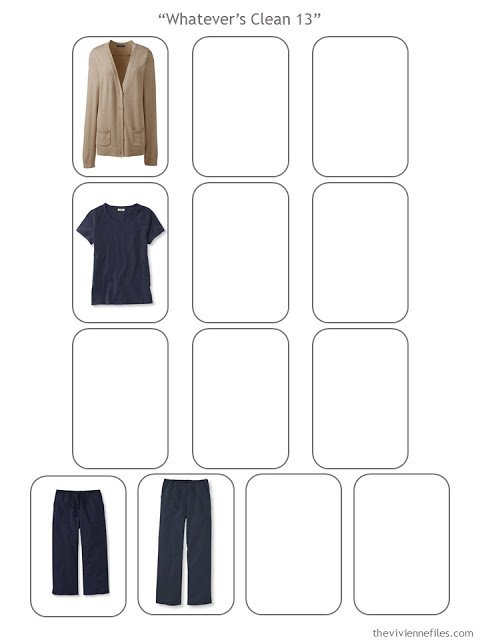 Started core capsule wardrobe items in a Whatever's Clean 13 capsule wardrobe