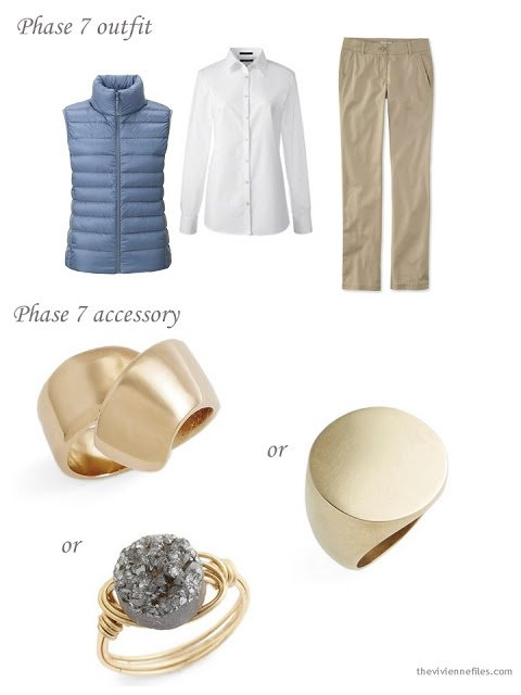 Adding a gold ring to a capsule wardrobe