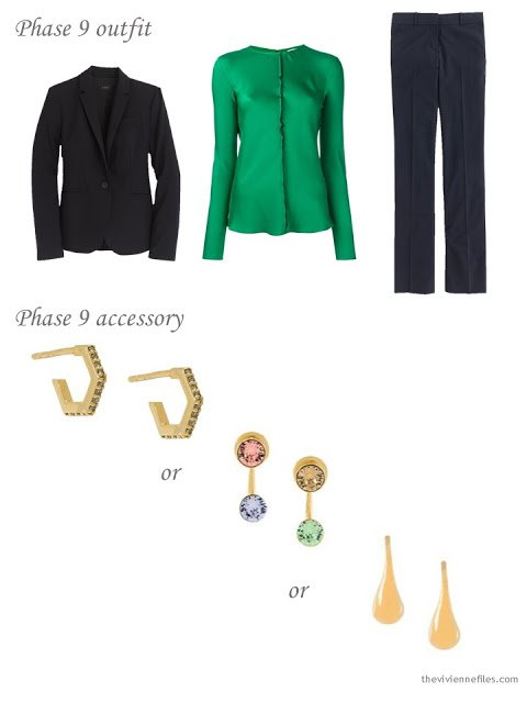 How to add creative earrings to a business capsule wardrobe