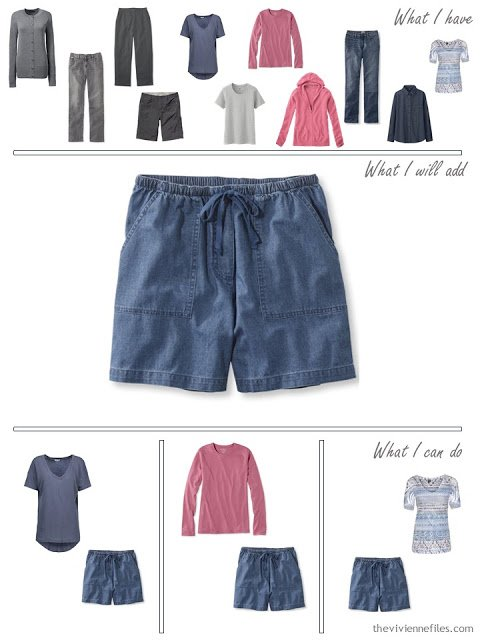 how to add denim blue shorts to your wardrobe
