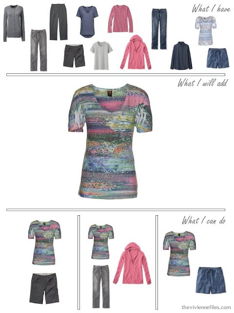 how to add a bright print tee to your wardrobe