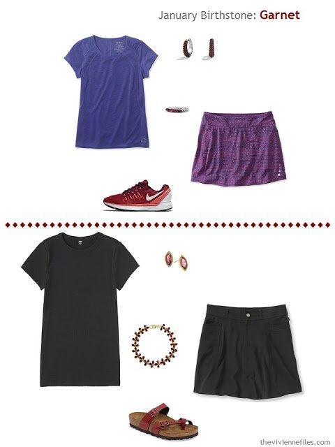 How to wear Garnet, the January Birthstone, in a capsule wardrobe