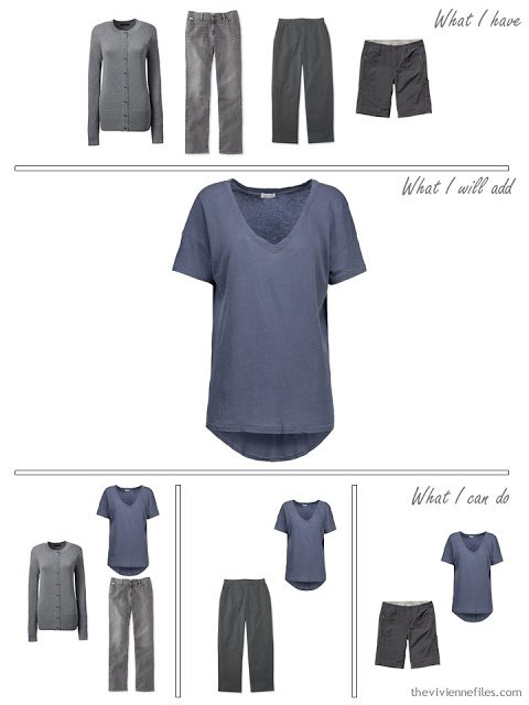 how to add a denim blue tee shirt to your wardrobe