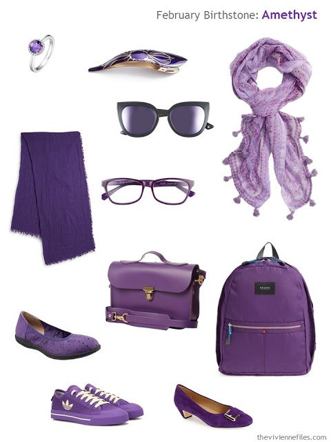 amethyst purple accessories