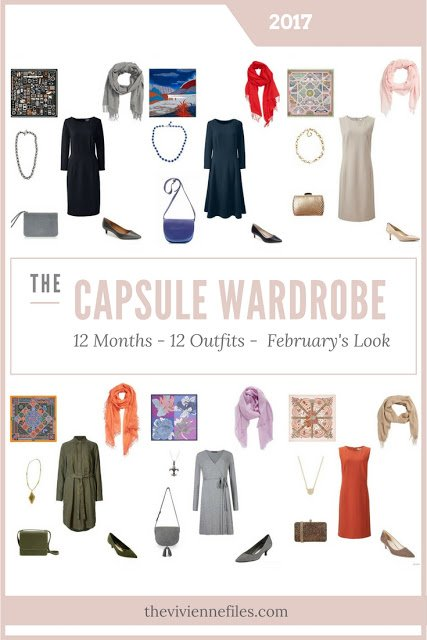 Build a Capsule Wardrobe in 12 Months, 12 Outfits - February 2017