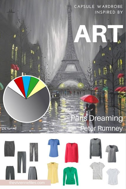 How to Build a Capsule Wardrobe with a Backbone - Start with Art: Paris Dreaming by Peter Rumney