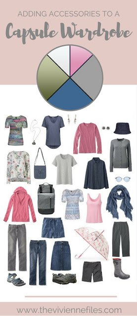 How to Accessorize a travel capsule wardrobe with lots of denim