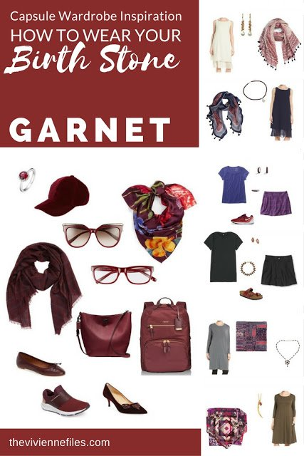 How to wear Garnet, the January Birthstone, in a capsule wardrobe