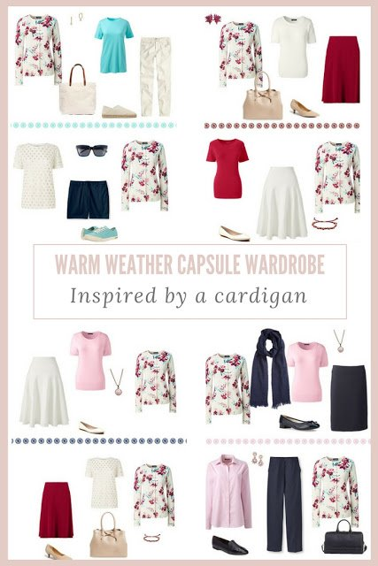 How to Assemble a Warm-Weather Capsule Wardrobe – The Burgundy Floral Cardigan