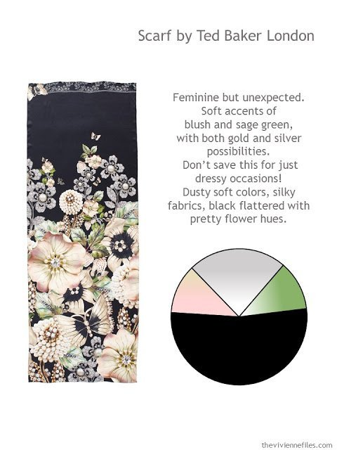 Ted Baker London scarf, style guidelines and color palette