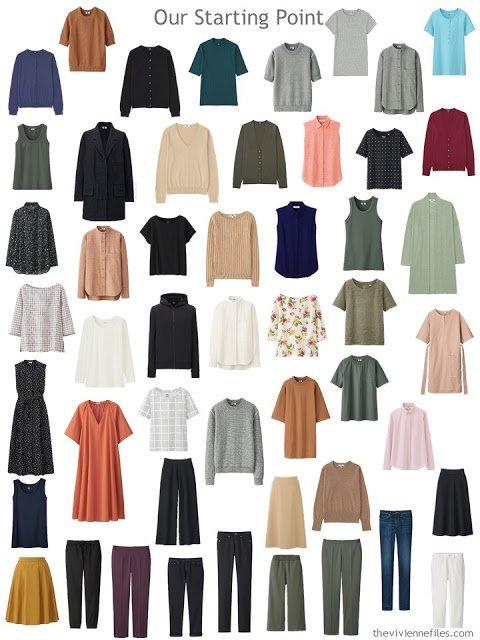 a typical 50-piece wardrobe