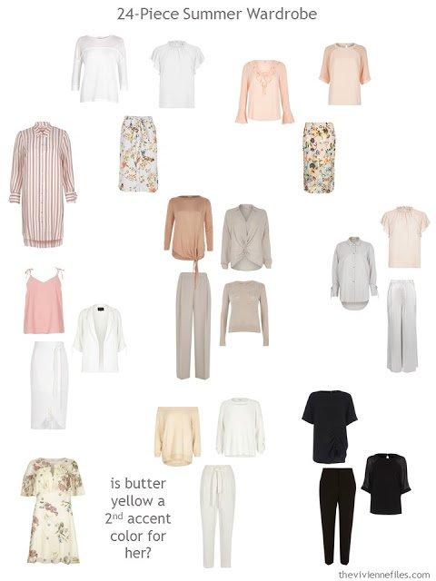 a 24-piece warm-weather wardrobe
