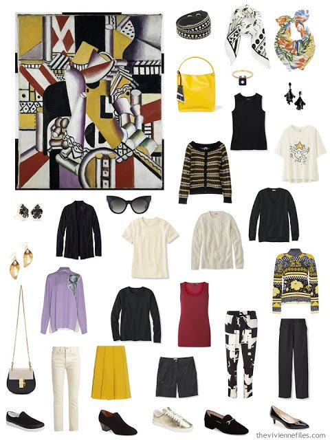 Leger's Le Pot a Tisane with a wardrobe inspired by the painting