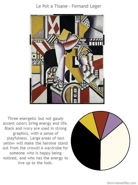 Le Pot a Tisane by Fernand Leger with style guidelines and color palette