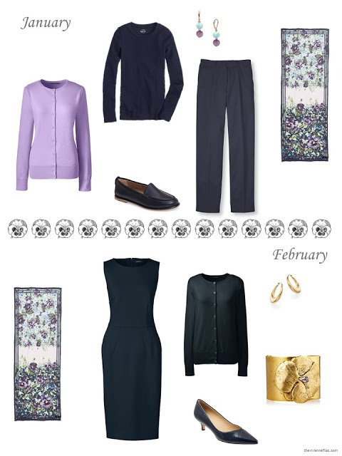 Esme Enchantment scarf by Ted Baker London with outfits for January and February