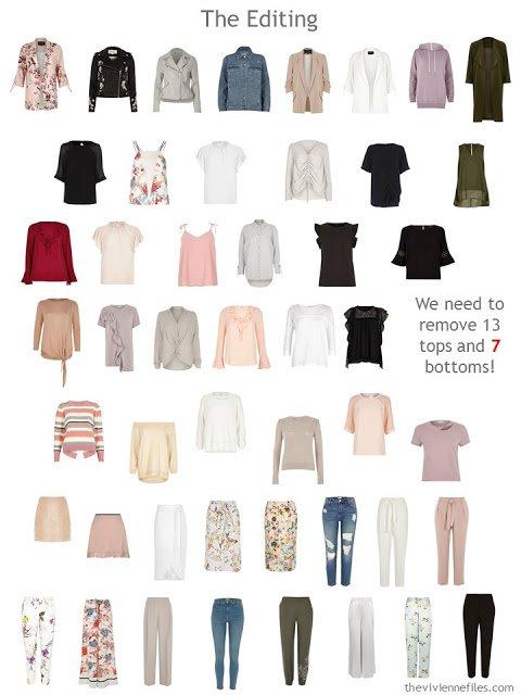 A plan for editing a 50-piece wardrobe