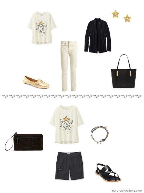 2 ways to wear a Keith Haring tee shirt