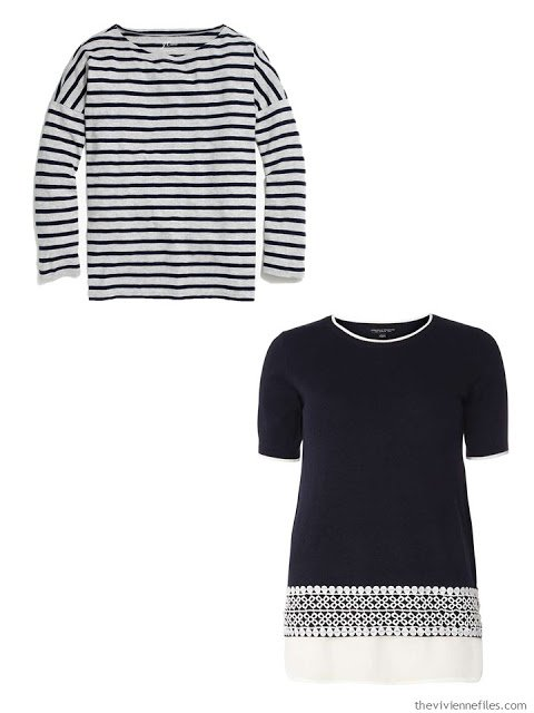 two navy-based pieces to finish a Four by Four Wardrobe