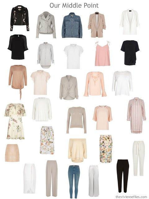 a post-edit 30-piece wardrobe