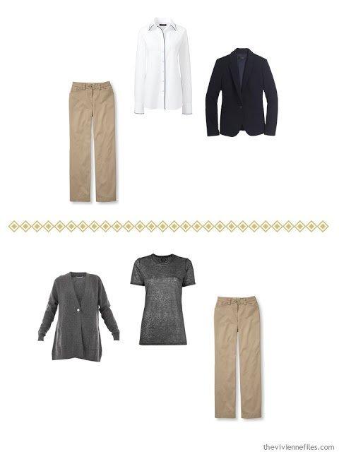 two ways to wear khaki pants